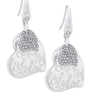 Guess silver-tone earrings Brand New